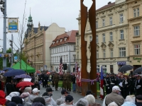 The ceremonial unveiling of the monument